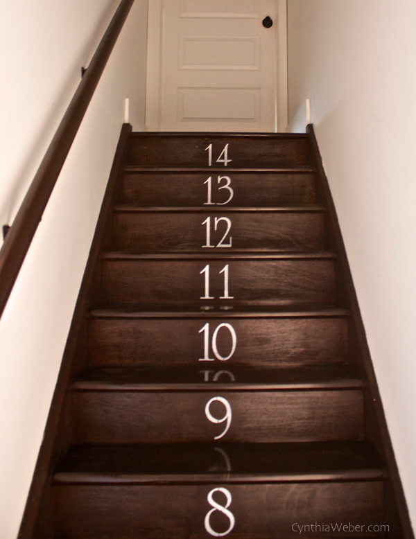 numbered stairs
