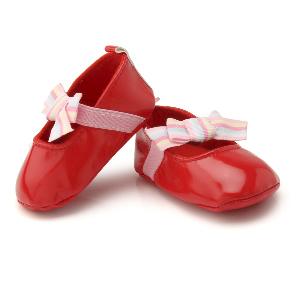 NIS107_buy_online_designer_red_kids_dress_bowknot_shoes_for_indian_infants